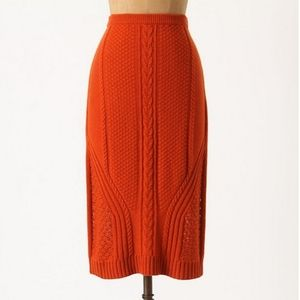 Anthropologie Sparrow Needled Paths Sweater Skirt